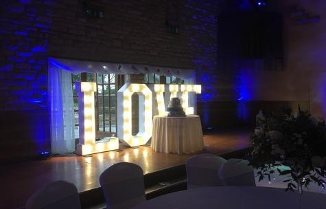 LED Love Letters Barnard Castle