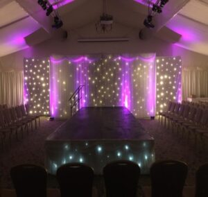 North East Wedding Curtain Backdrop