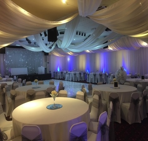 North East Wedding Venue Draping