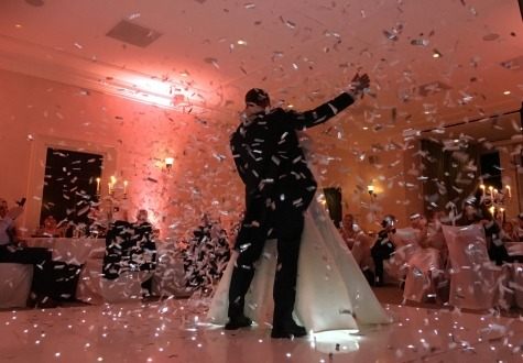 Seaham Hall Wedding Confetti Cannon