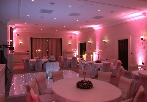 Starlit Dance floor Seaham Hall