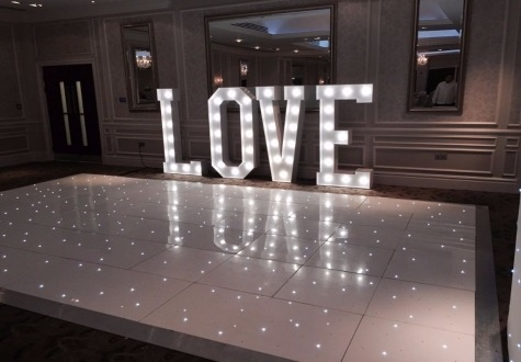 Starlit LED Dance Floor Hall Garth Hotel Darlington