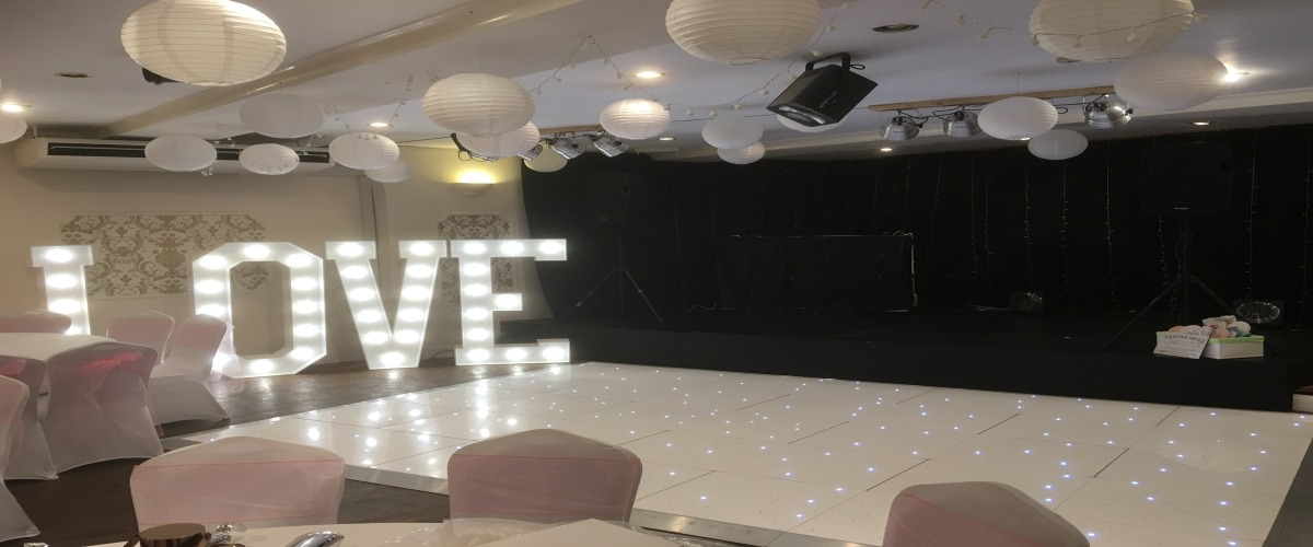 Starlit LED Dance Floor & LED Letters Spa Hotel Saltburn