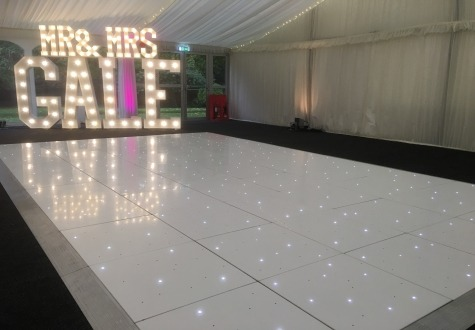 Starlit LED twinkly dance floor Ormesby Hall Middlesbrough