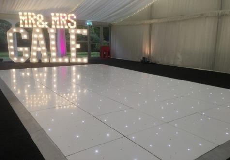 Starlit LED Dance Floor Hire Middlesbrough