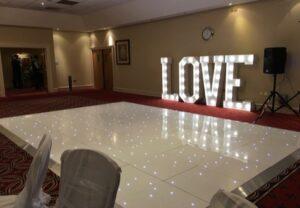 Starlit LED Dance Floor Redworth Hall Durham