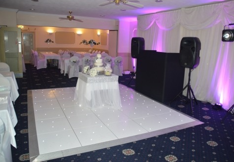 Starlit LED Twinkling Dance Floor Parkmore Hotel Stockton