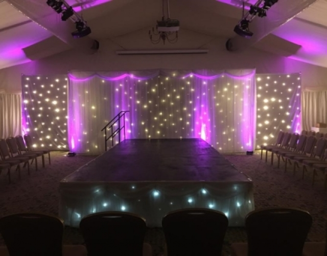 Wynyard Marquee Dressing Wedding Backdrop