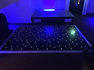 Black Starlit LED Dance Floors Darlington & Durham
