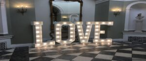 LED Letters Hire North East