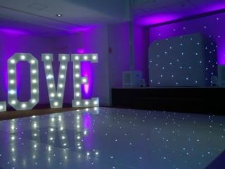 Starlit Twinkling LED Dance Floor Hire Middlesbrough